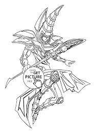 yu gi oh coloring pages for kids printable free coloing 4kids com