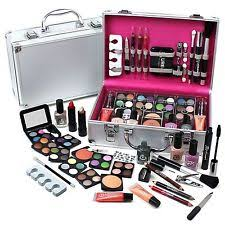 urban beauty make up set vanity case 60pcs cosmetics collection carry box