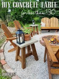 Saybrook Outdoor Furniture by Diy Concrete Table Plus Diy Solar Lamps Concrete Table