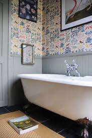Wallpaper For Bathrooms Ideas Colors 16 Creative Ways To Use Wallpaper In The Kitchen Traditional