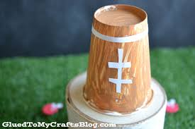 paper cup football kid craft