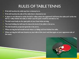 10 rules of table tennis rules and regulations of table tennis and badminton ppt video