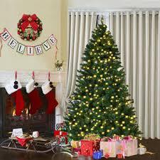 7ft christmas tree goplus 7ft pre lit pvc artificial christmas tree hinged w 300 led