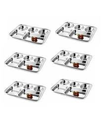 Stainless Steel Partition Dezinox Silver Stainless Steel Partition Plates Buy Online At