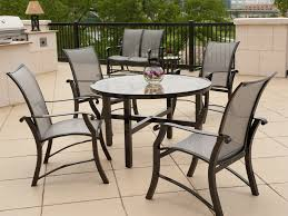 Aluminum Patio Dining Set Outdoor Stainless Steel Dining Table Set Aluminum Outdoor