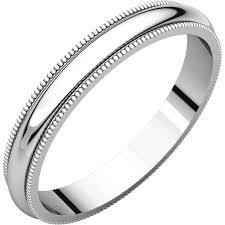 milgrain wedding band 14k gold 3 mm milgrain wedding band