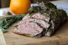 herb roasted butterflied leg of lamb
