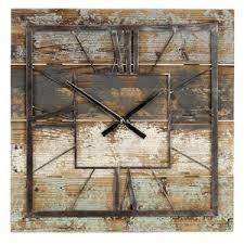 square wood wall square wall clocks you ll wayfair ca