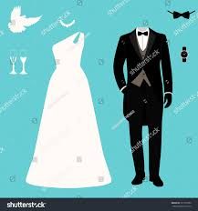 Bride To Groom Wedding Card Wedding Card Clothes Bride Groom Wedding Stock Vector 727707262