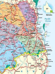map of queensland southeast queensland highways map queensland australia