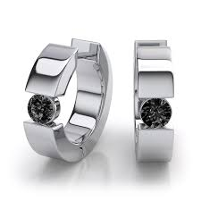 black diamond earrings for men mens hoop earrings what does distinguish them