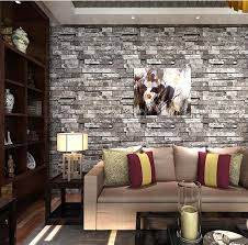 online shop 3d embossed brick wallpaper roll 3d faux brick
