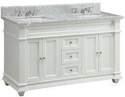 60 inch double sink bathroom vanity shaker white carrara top 60