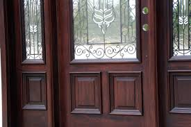 wood and glass exterior doors front doors with wrought iron and glass