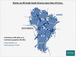 Alaska On A Map by Map Overlays Comparing Size Business Insider