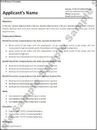 Employment History Example Bio Data Cv U2013 Ved International Education Consultancy