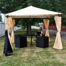 gazebo heavy duty heavy duty garden gazebo with side curtains on sale fast