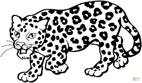 leopard 3 coloring page free printable coloring pages