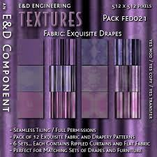 Drape Of Fabric Second Life Marketplace Fed021 12 Exquisite Lavender Curtain