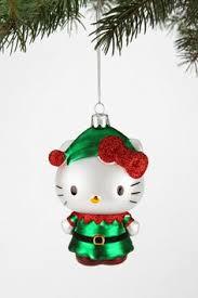 kurt adler sanrio set of 5 hello tree ornaments