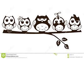 owl on a branch clipart black and white clipartxtras