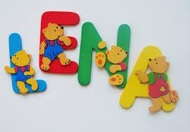 buchstaben kinderzimmer dekobuchstaben für kinderzimmer mit bunten bären wall de