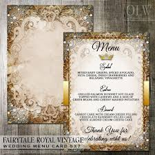 fairytale wedding invitations vintage fairytale royal wedding reception menu digital file