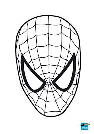 mask marvel coloring pages spiderman 4718 marvel coloring pages