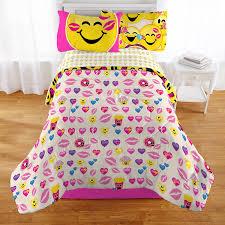 Furniture Xo Bedroom Sets Amazon Com Emoji Complete 4 Piece Girls Bedding Set Twin Home