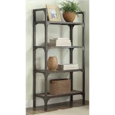 Weathered Bookcase Gorden Bookshelf In Weathered Oak U0026 Antique Silver