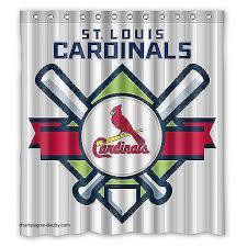 Curtains St Louis Curtains St Louis Cardinals Shower Curtain St Louis