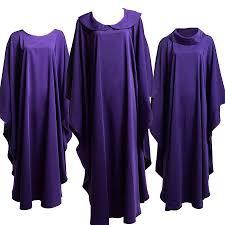 Church Halloween Costumes Holy Religion Costumes Clergy Catholic Church Priest Purple