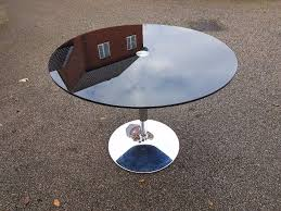 does round table deliver round black glass chrome dining table free delivery 540 in