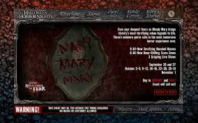 halloween horror nights bloody mary d past past hhn websites
