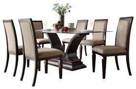 7 pc dining room set 7 glass dining room set 19600