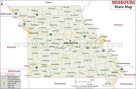 missouri map images state map