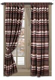 pair old west stripe western rustic home tab top window drapes 108