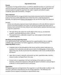 Sample Outline for an Argumentative Essay  Service for you Counter arguments in argumentative essays