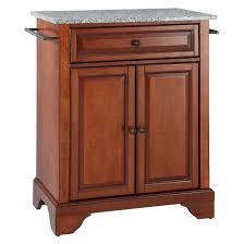 lafayette solid granite top portable kitchen island classic