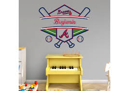atlanta braves personalized name wall decal shop fathead for atlanta braves personalized name fathead wall decal