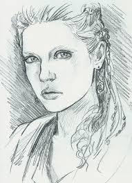 ведьмак3 цири девушка caricature sketch illustration game