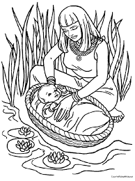 samuel coloring pages from the bible week 7 bible story baby moses coloring page bible