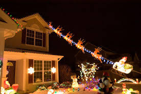santa flying and reindeer outdoor decoration attractive santa