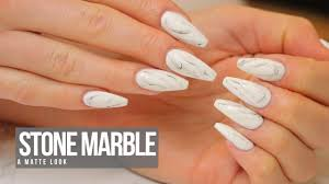 acrylic nail design stone marble youtube