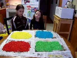 Kids Fun Craft - how to make colored craft rice easy and fun crafts with kids