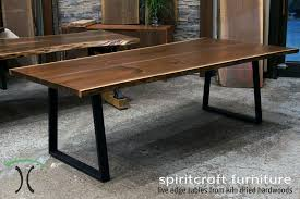 Living Edge Dining Table Live Edge And Slab Dining And Conference Tables And Tops