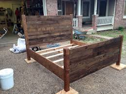 Pallet Bedroom Furniture Recycled Pallet Queen Size Bed Pallet Furniture