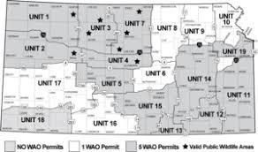 kansas walk in map kansas deer management maps deer regulations