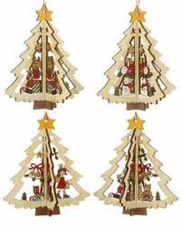 hanging wooden tree personalized ornament