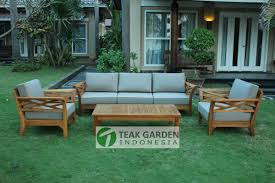teak cross deep seating sectional cv teak garden indonesia